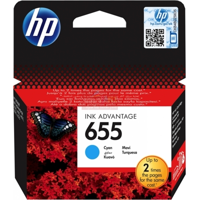HP DJ 3525 Advant. cyan,600 str., originál,No.655